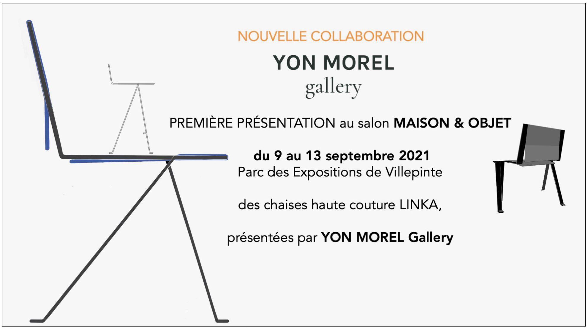 Maison & Objet, du 9 au 13 septembre 2021, les Chaises LINKA présentées par YON MOREL gallery