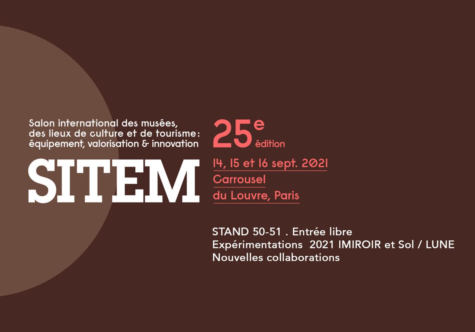 Septembre 2021 : Matières Sensibles du paysage 2021, présentation au SITEM au Carrousel du Louvre…